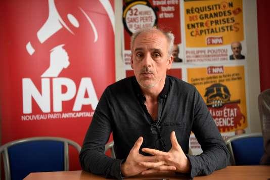 Philippe Poutou à Montreuil, le 10 mars.