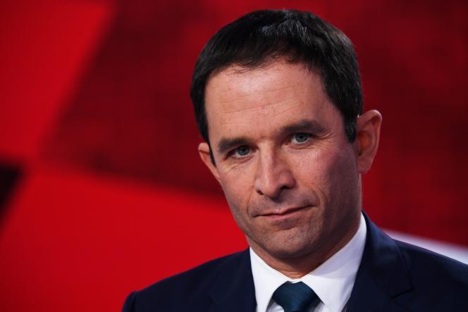Benoît Hamon, sur le plateau de « L'Emission politique», le 9 mars.