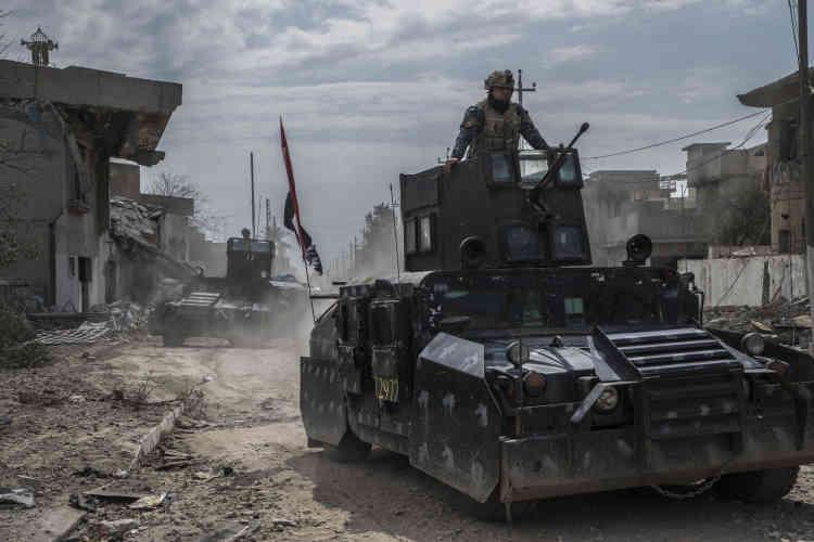 La police fédérale à Mossoul-Ouest repris à l'EI, le 8 mars.