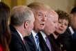Donald Trump lors d'une réunion avec des élus du parti Républicains à Washington le 7 mars.