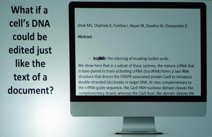 «Et si on pouvait éditer les cellules de notre ADN comme avec un traitement de texte ?»