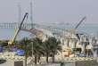Le chantier du pont Emir Jaber Al-Ahmed Al-Sabah à Koweït City le 11 février.