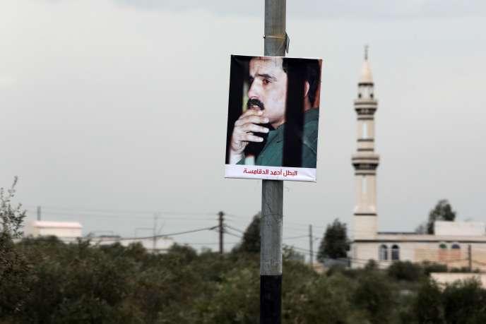 Une photo d'Ahmad Dakamseh dans les rues d'Irbid.
