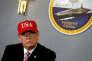 Donald Trump lors de sa visite à Newport News (Virginie) le 2 mars.