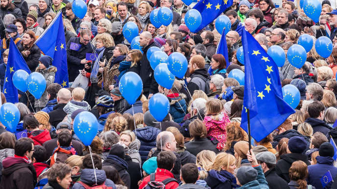Manifestation du mouvement Pulse for Europe à Cologne le 19 février.