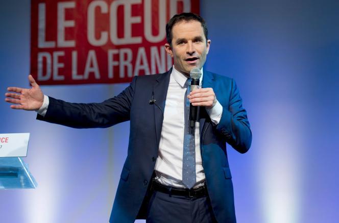 Benoît Hamon, le 12mars à Fort-de-France.