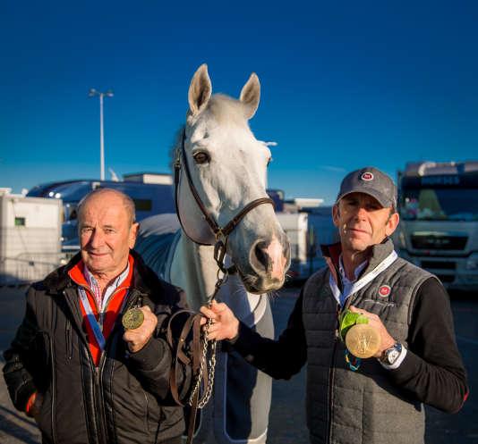 Marcel et Philippe Rozier ont remporté la médaille d'or olympique par équipes à quarante ans d'intervalle. En 1976 à Montréal pour le père, en 2016 à Rio pour le fils.