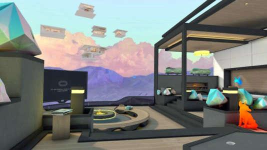 Un des environnements de l'appli VR social de Facebook dans laquelle n'importe qui peut se retrouver.