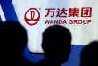 Le logo du groupe Wanda, à Pékin, le 2 mars 2017