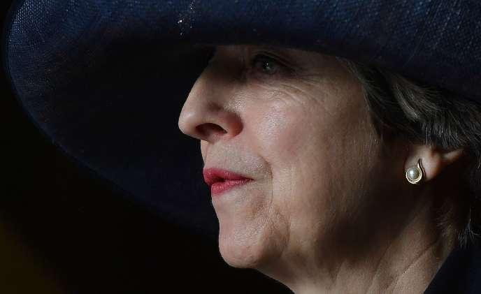 La première ministre britannique, Theresa May, lundi 13 mars, à Londres.