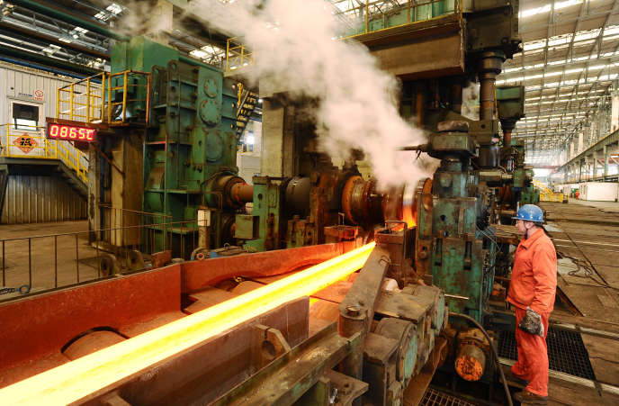 Le site de production Dongbei Special Steel à Fushun (nord-est de la Chine), le 9 mars 2016.