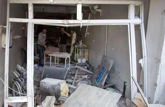 L'hôpital Al-Qods d'Alep, pris pour cible par un raid des forces gouvernementales le 28 avril 2016.