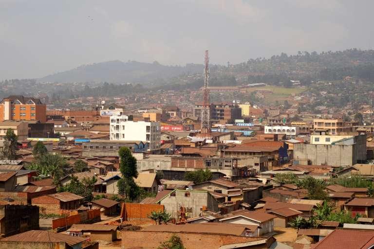 Vue de Butembo, ville commerçante au nord du Nord-Kivu, en République démocratique du Congo.