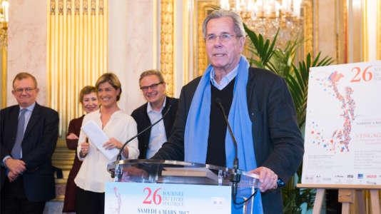 Jean-Louis Debré au 26e Journée du livre politique à l'Assemblée nationale, le 4 mars.