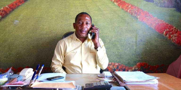 Katembe Kahehero, l'un des millionnaires de Butembo, au Nord-Kivu, à l'est de la République démocratique du Congo.