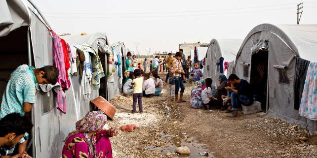 En 2014, un camps dans la ville turque de Suruc accueille des habitants de Kobané.