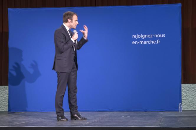 Emmanuel Macron lors de son meeting à Souillac (Lot), le 24 février.