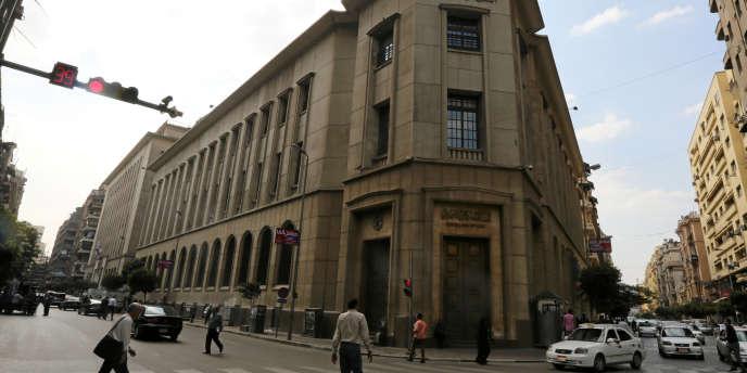 La banque centrale égyptienne, au Caire, en novembre 2016.