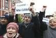 Manifestation contre le «décret numéro3» à Bobruisk (Bielorussie) le 12 mars.