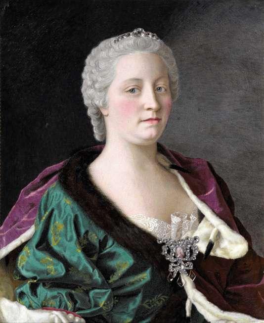Portrait de Marie-Thérèse d'Autriche peint par Jean-Etienne Liotard (1702-1789), une oeuvre exposée au Rijksmuseum à Amsterdam.