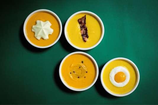 Une chantilly, du lard, des épices ou un œuf... Tout est possible dans la« soupe à tout».