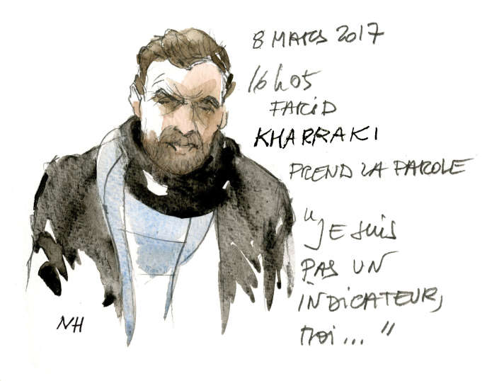 Farid Kharraki, au tribunal correctionnel de Paris, le 8mars.