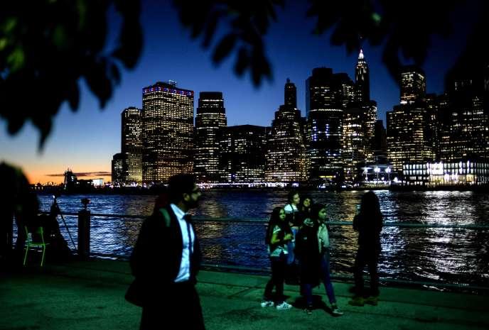 Manhattan vu du New Jersey.