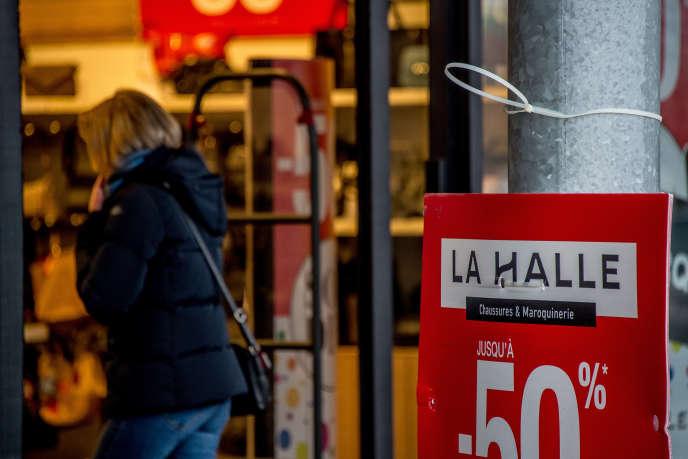 Magasin La Halle, à Bailleul (Nord), le 23 janvier.