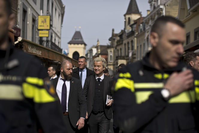 Geert Wilders à Valkenburg, le 11mars.