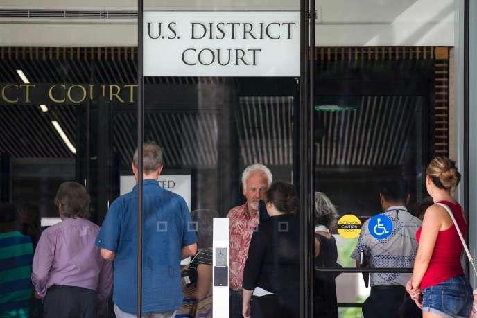 La Cour fédérale de Honolulu, à Hawaï, le 15 mars.
