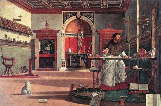«Saint Augustin» (1502), fresque de Vittorio Carpaccio.