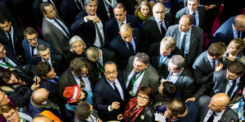 François Hollande à l'inauguration du Salon de l'agriculture, le 25février 2017.