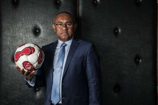 Le nouveau président de la CAF, Ahmad Ahmad, le 16 mars.