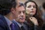 François Fillon, candidat du parti Les Républicains à la présidentielle, et Valérie Boyer, à une réunion publique à Pertuis dans le Vaucluse, mercredi 15 mars.