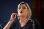 Marine Le Pen en meeting au palais des congrès de Saint-Raphaël (Var), le 15 mars.