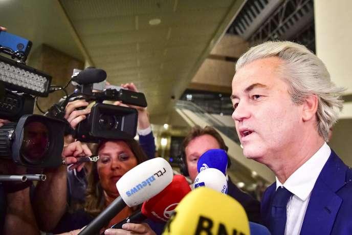Le Néerlandais Geert Wilders après sa défaite aux législatives le 15 mars.