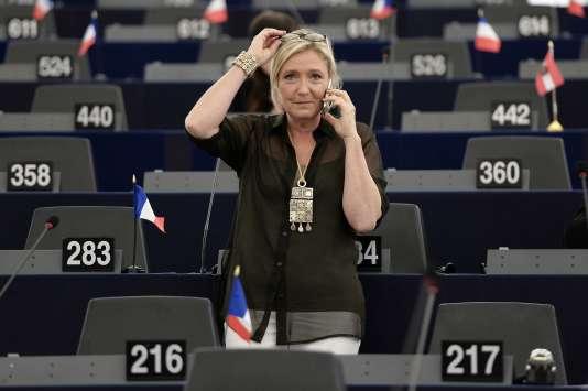 Marine Le Pen (FN), au Parlement européen, le 14 septembre 2016.