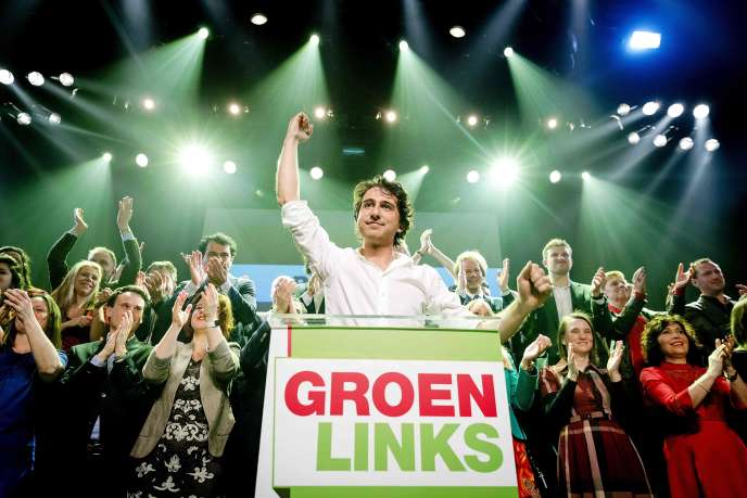 Le dirigeant de GroenLinks, Jesse Klaver, à Amsterdam mercredi 15mars.
