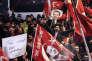 Manifestation devant le consulat néerlandais à Istanbul, le 12 mars.