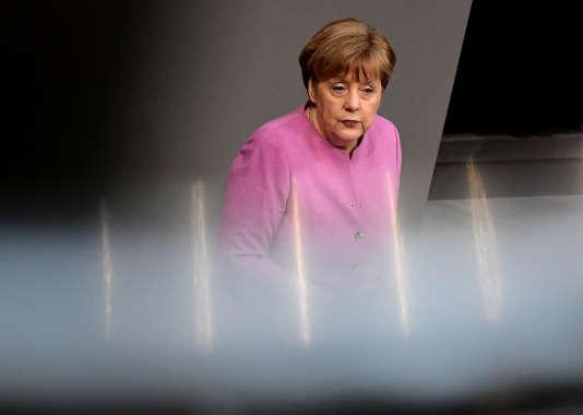 Angela Merkel à Berlin, le 9 mars 2017.