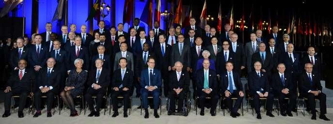 Participants au G20 à Baden-Baden,le 17 mars.