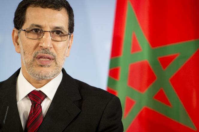 Saad-Eddine Al-Othmani, lenouveau premier ministre marocain, lors d'une conférence de presse à Berlin, le 23 novembre 2012.