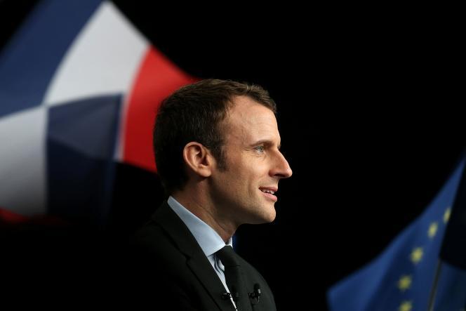 Emmanuel Macron, le 17 mars, à Reims.