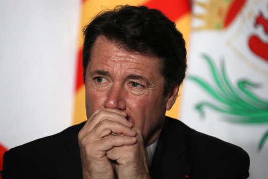 Le président de la région PACA, Christian Estrosi, à Nice, le 21 février.
