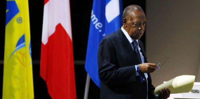 L'ancien président de la Confédération africaine de football (CAF) Issa Hayatou, à Zurich, le 26 février 2016.