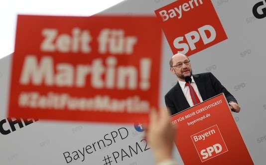 Martin Schulz à Vilshofen, en Bavière, le 1er mars.