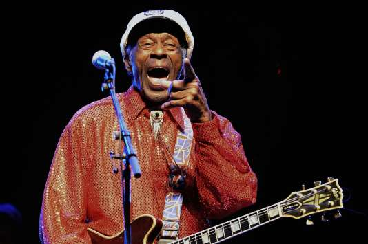 Chuck Berry, en avril 2013 lors d'un concert en Uruguay.