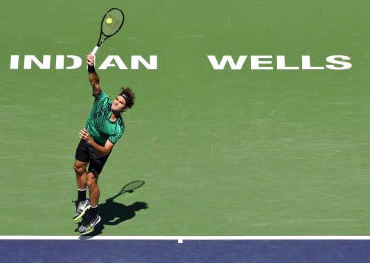 Roger Federrer, victorieux du Masters 1000, dimanche 19 mars, à Indian Wells.