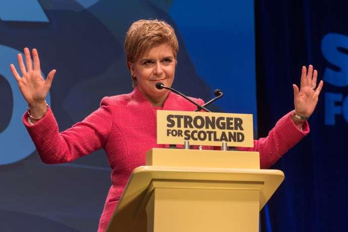 Nicola Sturgeon, le 18 mars à Aberdeen.