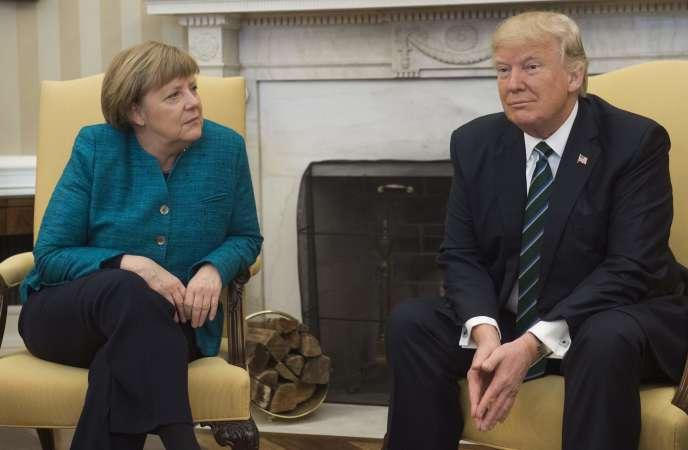 Angela Merkel et Donald Trump à la Maison Blanche, à Washington, le 17 mars.